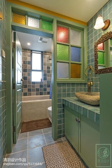 东南亚风格卫浴设计案例卫生间