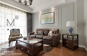 2018面积106平美式三居客厅装修设计效果图片