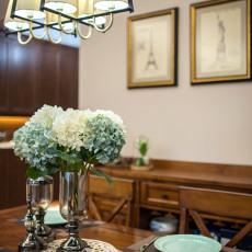 质朴60平美式二居餐厅设计效果图