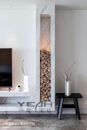 精美97平米三居客厅简约装修实景图片大全