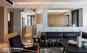 2018精选面积109平简约三居客厅装饰图片