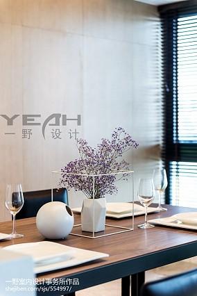 热门面积102平简约三居餐厅装修实景图片