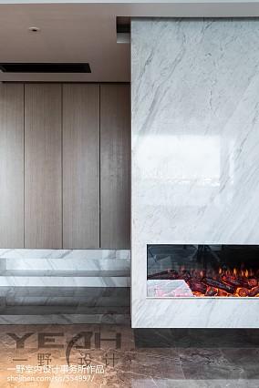 2018面积107平简约三居客厅装修设计效果图片欣赏