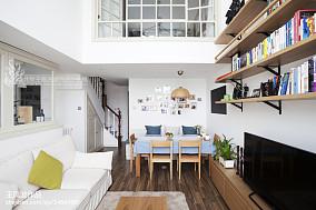 2018精选面积140平复式餐厅日式装修欣赏图复式日式家装装修案例效果图
