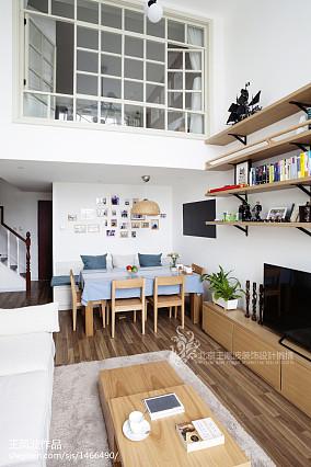 2018面积134平复式餐厅日式装修实景图片欣赏复式日式家装装修案例效果图
