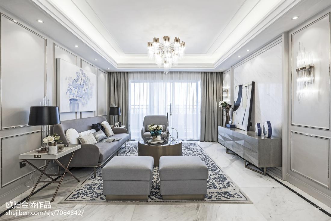 欧式风格客厅样板间欧式豪华家装装修案例效果图