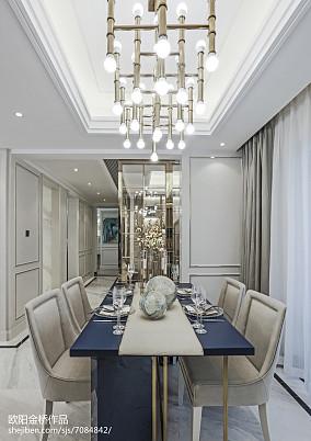 精选欧式餐厅装修设计效果图样板间欧式豪华家装装修案例效果图