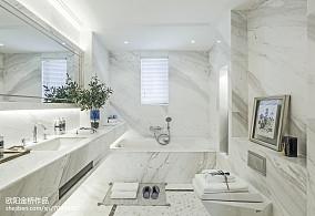 热门卫生间欧式实景图样板间欧式豪华家装装修案例效果图