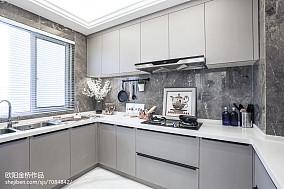 欧式风格橱柜效果图样板间欧式豪华家装装修案例效果图