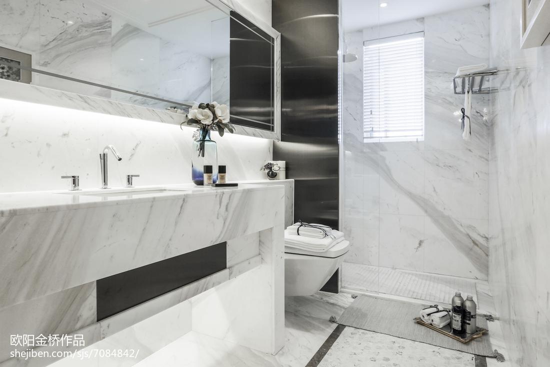 质朴273平欧式样板间装修美图卫生间欧式豪华卫生间设计图片赏析