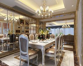 欧式风格温馨四居室装修效果图
