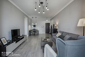 热门面积83平小户型客厅现代装饰图片欣赏