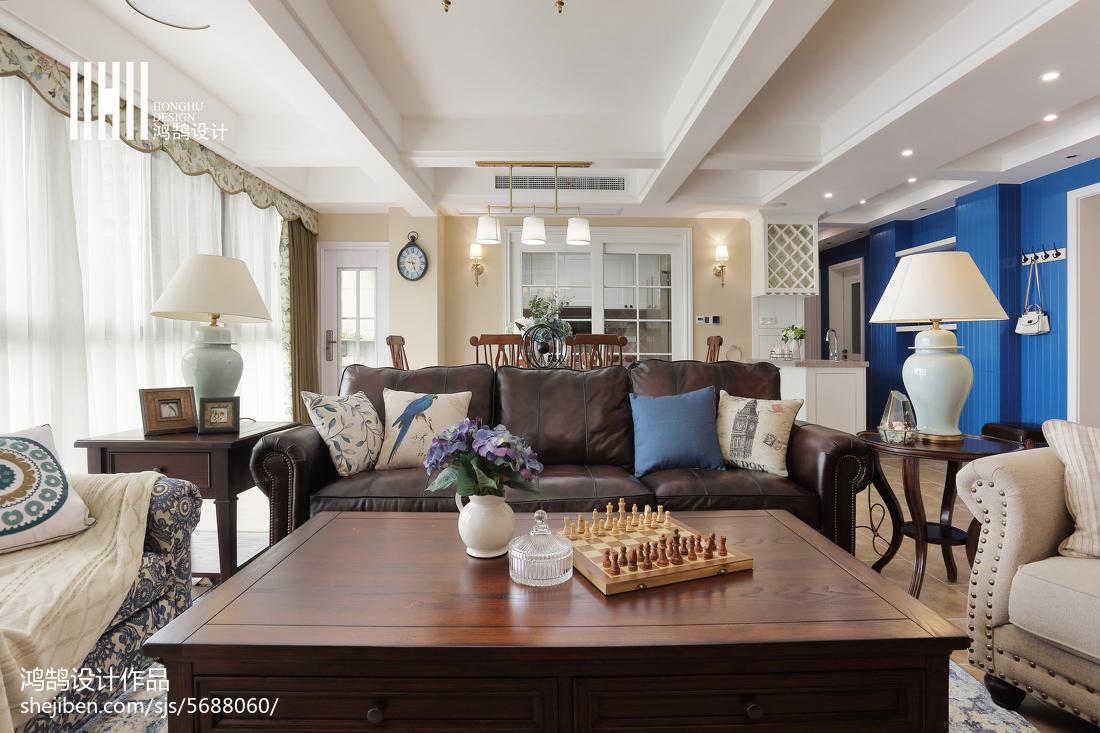 精美面积138平美式四居客厅欣赏图片大全美式经典设计图片赏析