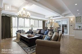 精选123平米四居客厅美式欣赏图四居及以上美式经典家装装修案例效果图