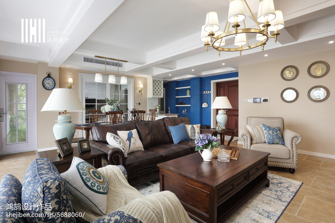 2018精选141平方四居客厅美式实景图客厅
