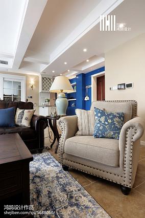 2018大小111平美式四居客厅装修图片欣赏四居及以上美式经典家装装修案例效果图