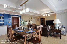 精选120平米四居餐厅美式装修设计效果图片厨房美式经典餐厅设计图片赏析