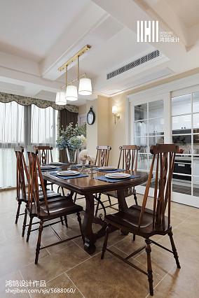 精美136平方四居餐厅美式欣赏图片大全四居及以上美式经典家装装修案例效果图