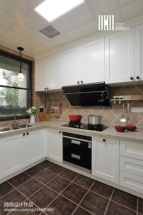 温馨102平美式四居厨房设计案例四居及以上美式经典家装装修案例效果图