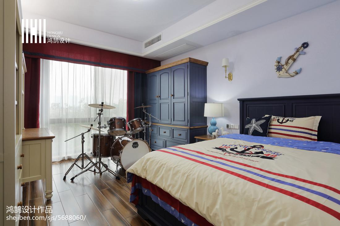 热门美式四居儿童房实景图卧室美式经典卧室设计图片赏析