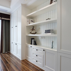 面积120平美式四居卧室欣赏图片
