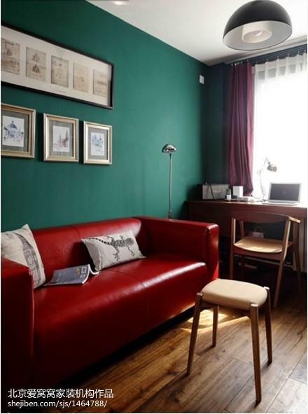 质朴55平现代二居休闲区图片大全客厅