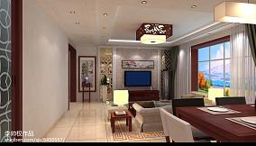 2018精选面积105平中式三居客厅装修图片大全