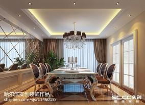 现代时尚最新装饰四居室效果图