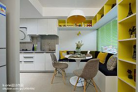 热门72平米二居餐厅简约装修设计效果图片大全