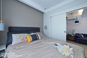 热门面积76平简约二居卧室装饰图片