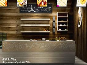 简单厨房和餐厅酒柜隔断图片