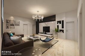 热门面积75平小户型客厅简约效果图片欣赏