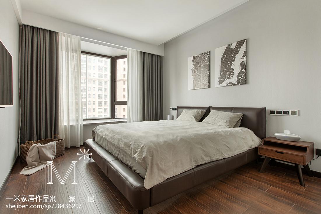 简约现代风格卧室装修效果图功能区1图现代简约功能区设计图片赏析