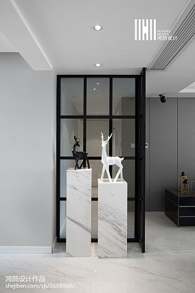 面积102平现代三居玄关装修图片欣赏三居现代简约家装装修案例效果图