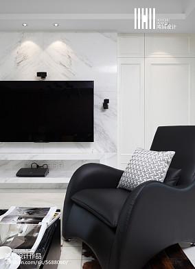2018大小109平现代三居客厅效果图片大全三居现代简约家装装修案例效果图
