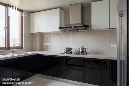 精美103平米三居厨房现代装饰图片大全
