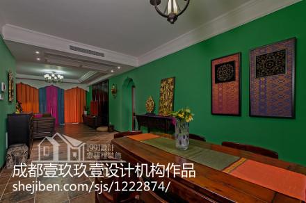 浪漫91平东南亚四居客厅实景图片客厅