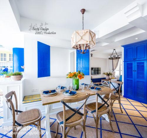 精选地中海三居餐厅实景图片厨房吊顶3图