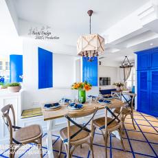 精选地中海三居餐厅实景图片