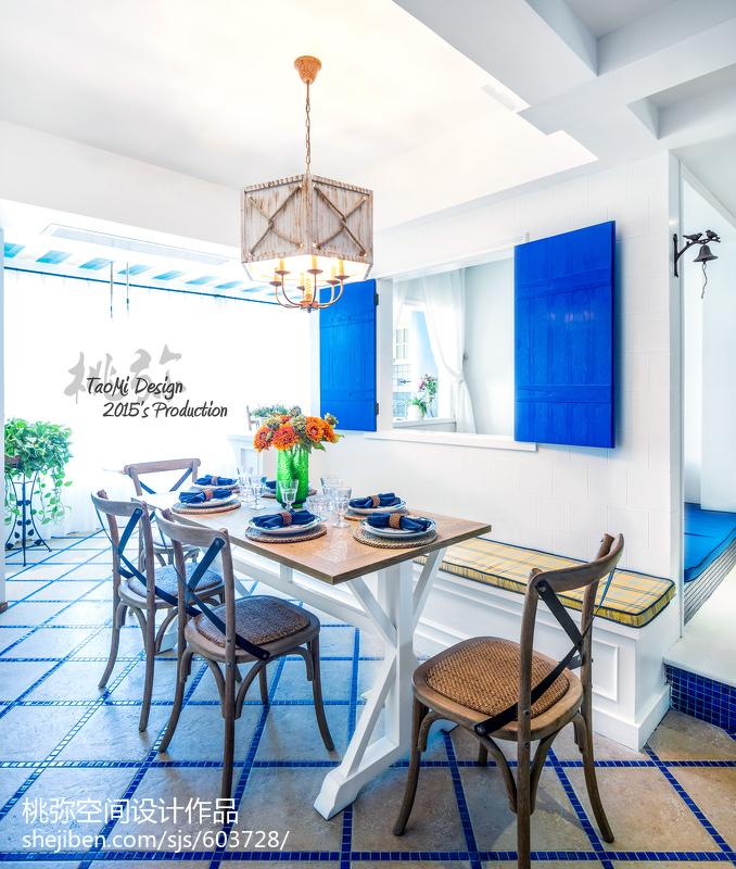 2018地中海三居餐厅装修欣赏图片大全厨房地中海餐厅设计图片赏析