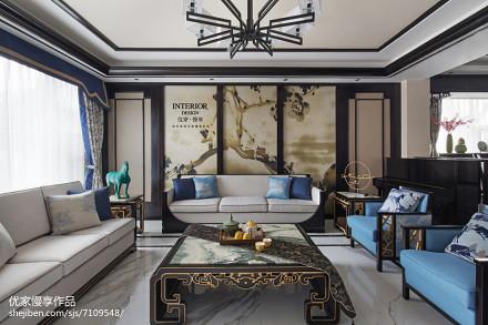 华丽400平中式别墅装修设计图别墅豪宅中式现代家装装修案例效果图