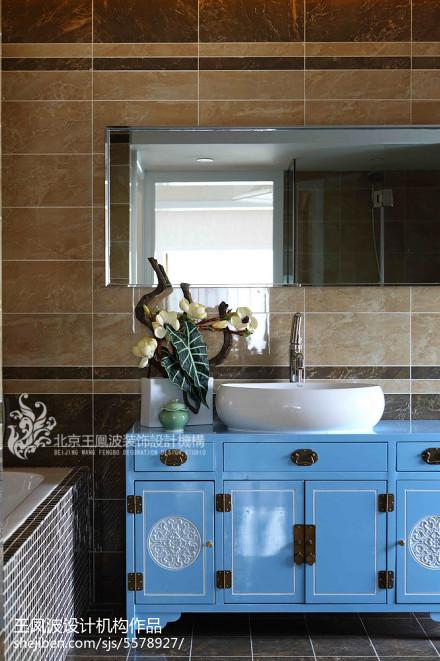 温馨258平中式样板间厨房效果图欣赏餐厅