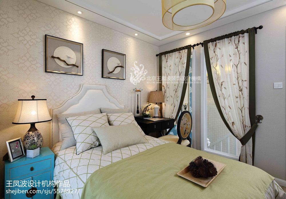 质朴303平中式样板间卧室实景图卧室中式现代卧室设计图片赏析