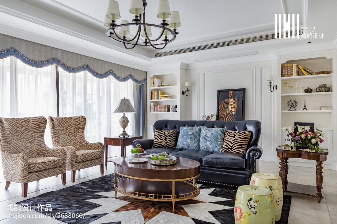 精美123平米四居客厅美式实景图客厅