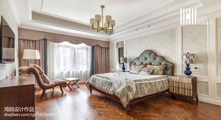 2018精选113平米四居卧室美式装修实景图片欣赏
