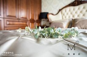 2018精选面积86平欧式二居卧室实景图片家装装修案例效果图