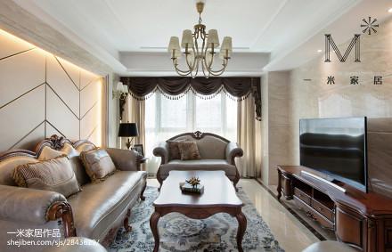 欧式格调客厅设计效果图二居欧式豪华家装装修案例效果图
