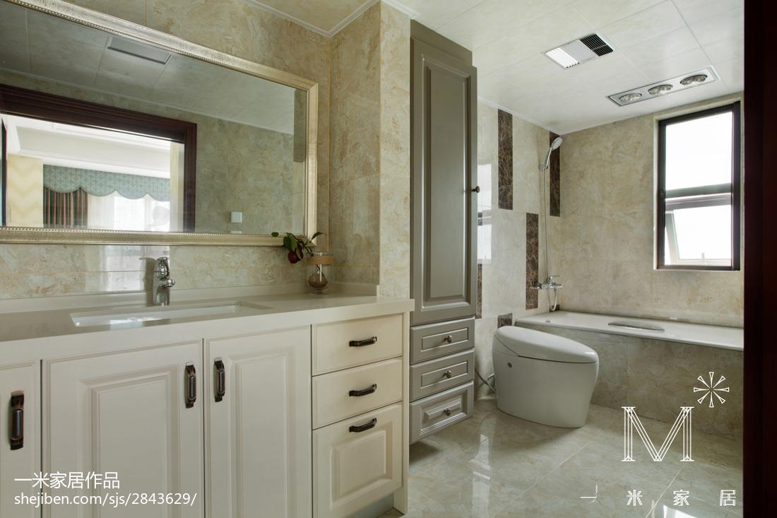 优美70平欧式二居装修效果图卫生间欧式豪华卫生间设计图片赏析