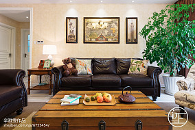热门105平米三居客厅美式装修图