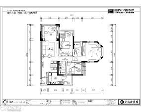 北欧简约二居室装修效果图